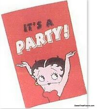 Betty Boop Party Invitations Invite Decoration Girl Treats Birthday Red Favors 8