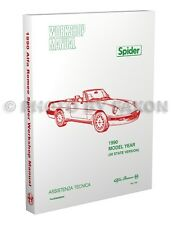 1990 Alfa Romeo Spider Shop Manual 90 Graduate Veloce Quadrifoglio Repair Book