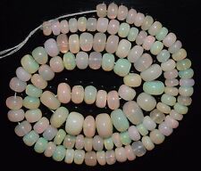 """15.5"""" Stunning Natural Ethiopian Welo Fire Opal Smooth Rondelle Beads EB1579"""