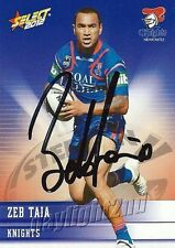 Signed 2012 NEWCASTLE KNIGHTS NRL Card ZEB TAIA