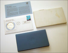 1971 Official UNA-USA Sterling Silver Commemorative Medal + FDC No 1 The Seabed