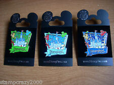 3 Pins DLR Celebrate Everyday Castle Costco Travel Company Chase Visa Disney Pin