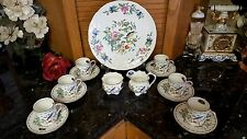 "Plate/6 Cups Saucers/Creamer/Sugar""Fine English Bone China Aynsley Pembroke NEW!"