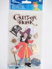 DISNEY DIMENSIONAL STICKERS - CAPTAIN HOOK from Peter Pan