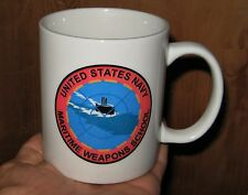 Nice United States US NAVY Martime Weapons School Ceramic Mug Cup Linyi M Ware