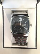 Mens Armitron Day/Date Quartz Watch with Stainless Steel Stretch Band Retail $89