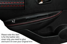 RED STITCHING 2X REAR DOOR ARMREST SKIN COVERS FITS NISSAN QASHQAI 07-13