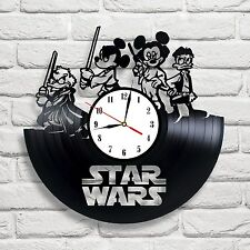 Star Wars Disney design vinyl record wall clock home art office playroom shop