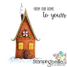 Stamping Bella Cling Stamp Set - GINGERBREAD HOUSE - Christmas