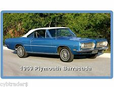 1969 Plymouth Barracuda  Auto Refrigerator / Tool Box Magnet