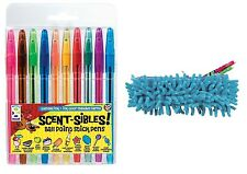 Scented Pens Set of 10 & Tactile Pen Case