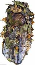 3D Leafy Light Leaf Screen Oak Camo Ghillie Balaclava & Face Mask Veil Headnet