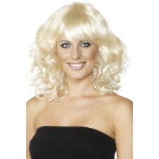 Womens Blonde Foxy Wig Mid Length Wavy Fancy Dress Beauty Model Star Short Style