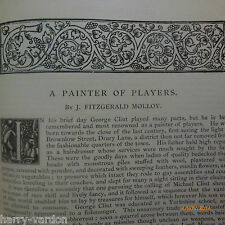 Painter Artist Actor George Clint Working Mens Clubs WMC Illustrated 1890
