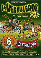 LOS VERDULEROS VOL 1 Y 2/ MOFLES 1,2,3, Y 4/CAIFAN DEL BARRIO CHIVA LOCA 8 IN 1