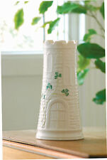 Belleek Giftware Shamrock Castle Vase Set of 2