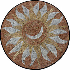Moon Hot Rays Tabletop Medallion Marble Mosaic MD1761