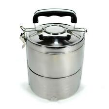 STAINLESS STEEL INSULATED 2 TIER LUNCH BOX 1.2 liter 40 oz Bento Tiffin Stacking
