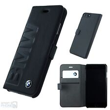 "BMW Echtleder iPhone 7 Plus / 5,5"" Book Case Handy Cover Schutz Hülle schwarz"