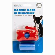 Dog Bag Dispenser Doggie Bags Dogs Clip Poo Scoop Pet Walking Walk Lead Collar