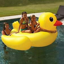"NEW! Giant Ride On Inflatable Pool Lake Beach Float Floating Duck 37"" x 75"""