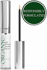 Organyc Lash&Brow Growth Serum Grows Your Eyelashes Significantly! Proven Get as