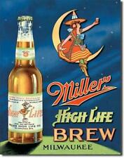 Miller High Life Brew Milwaukee USA Bier Bar Metall Werbung Schild