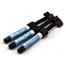 3 PrimeDent Light Cure Hybrid Dental Resin Composite 4.5gm syringes #001-001A2