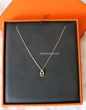 NIB Authentic Hermes 18k Gold Farandole Charm Pendant Necklace $1775