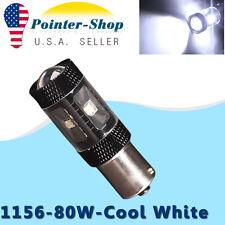 1x Cool White 80W High Power 1156 LED Light BA15S tail Backup Reverse 12V 7506