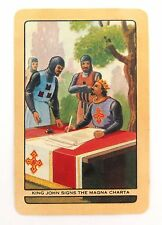COLES SWAP / PLAYING CARDS. NAMED. KING JOHN SIGNS MAGNA CARTA. NICE CONDITION.