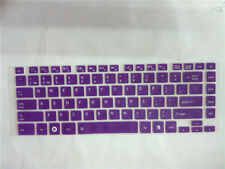 Keyboard Silicone Skin Cover Protector for Toshiba Satellite L830 L800 purple