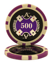 50pcs Ace Casino Laser Clay Poker Chips $500