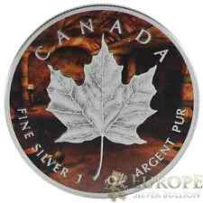 2014 1 Oz Ounce Silver Maple Leaf Coin .9999 Antique Finish Mummy's Cave Theme