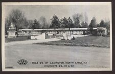 Postcard LEXINGTON North Carolina/NC  Cavalier Motel Motor Court view 1940's