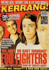 Foo Fighters on Kerrang Cover 1995  Ash  Anthony Kiedis of Red Hot Chili Peppers
