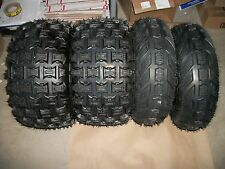 (4) Front Rear 6 Ply ATV Tires 21X7-10 / 20X11-9 Yamaha Raptor 660 700 350