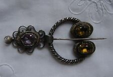 Lovely Large  Silver 19th Century French Penannular Pin / Brooch