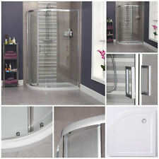 1200 x 800 Quadrant Shower Left Hand Bathroom Sliding Offset Tray & Cubicle