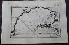 """1780 Roux Meucci: Portolano Baia Porto di Augusta """"Agusta"""" (Provincia Siracusa)"""