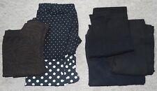 Tights polka dot solid black brown zebra animal Medium lot of 5