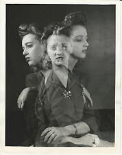 Double Triple Multiple Exposure Vintage Photo 1942 Abstract Trick Photography