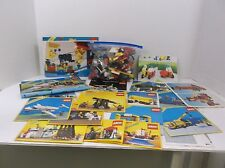 14 oz bag of Lego parts and mixed instruction booklets