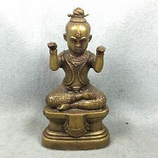 "5.5 "" Kuman Thong LP Tae Voodoo Haunted Doll Boy Spirit Magic Amulet Thai Buddha"