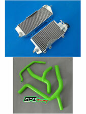 Aluminum Radiator and GREEN hose for KAWASAKI KXF450 KX450F 2012 2013 2014 2015