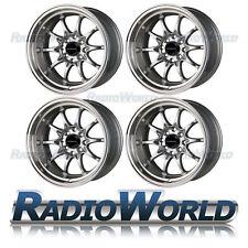 "Ultralite UL 48 15""x 9 ET0 4x100 / 108 Deep Dish Alloy Wheels Rims Silver ML"