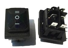 1Pcs NEW Waterproof Black 6Pin Rocker Switch 3 Position ON-OFF-ON DSDT