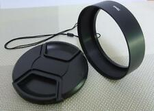72mm Metal Lens Hood + 77mm Cap for Standard Camera Lens 72SC77