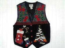 Ugly Christmas Sweater Vest Women Size Small S TanTrums misc22