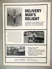 Ampico Airframe Motorcycle Outrigger Folding Trailer PRINT AD - 1963